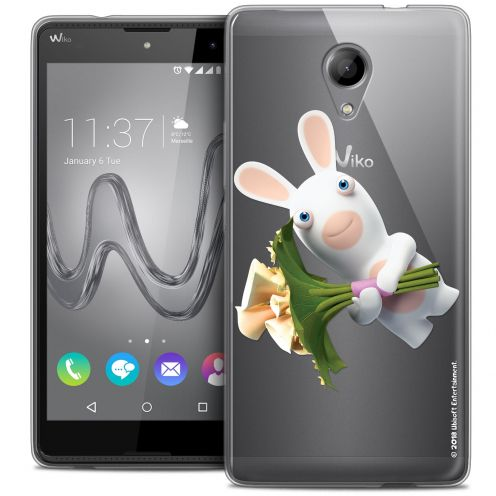 Coque Gel Wiko Robby Extra Fine Lapins Crétins™ - Bouquet Crétin