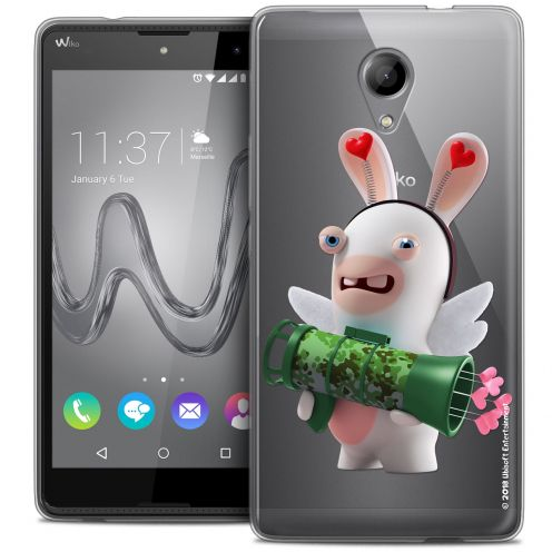 Coque Gel Wiko Robby Extra Fine Lapins Crétins™ - Cupidon Soldat
