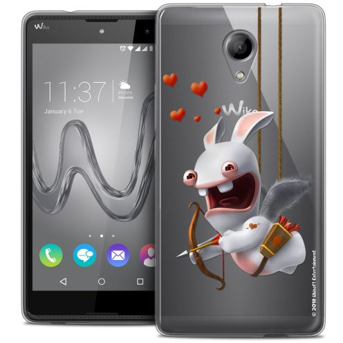 Coque Gel Wiko Robby Extra Fine Lapins Crétins™ - Flying Cupidon
