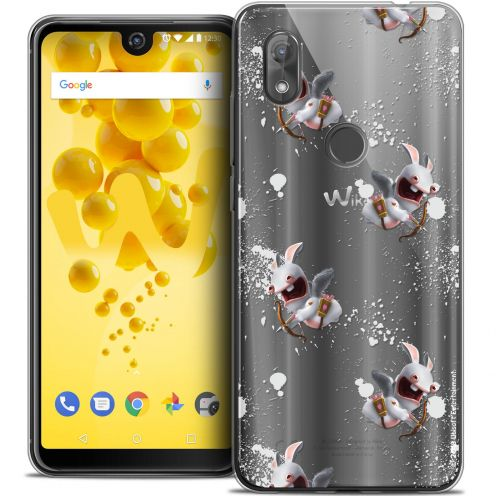 """Coque Gel Wiko View 2 (6.0"""") Extra Fine Lapins Crétins™ - Cupidon Pattern"""