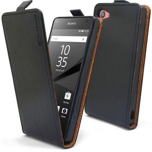 Visuel supplémentaire de Etui Italia Flip Sony Xperia Z5 Compact Cuir Véritable Bovin Noir