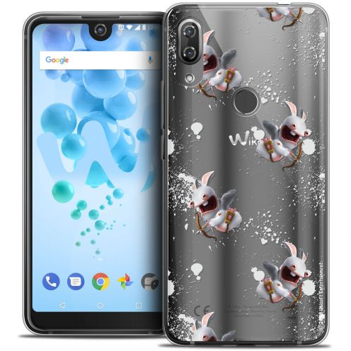 """Coque Gel Wiko View 2 PRO (6.0"""") Extra Fine Lapins Crétins™ - Cupidon Pattern"""