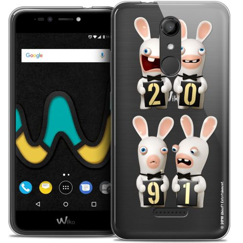 """Coque Gel Wiko U Pulse (5.5"""") Extra Fine Lapins Crétins™ - New Year"""