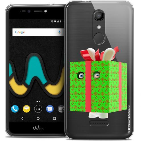 "Coque Gel Wiko U Pulse (5.5"") Extra Fine Lapins Crétins™ - Lapin Surprise Vert"