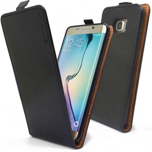 Visuel supplémentaire de Etui Italia Flip Samsung Galaxy S6 Edge +/Plus Cuir Véritable Bovin Noir