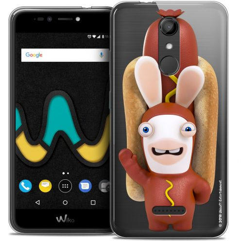 "Coque Gel Wiko U Pulse (5.5"") Extra Fine Lapins Crétins™ - Hot Dog Crétin"