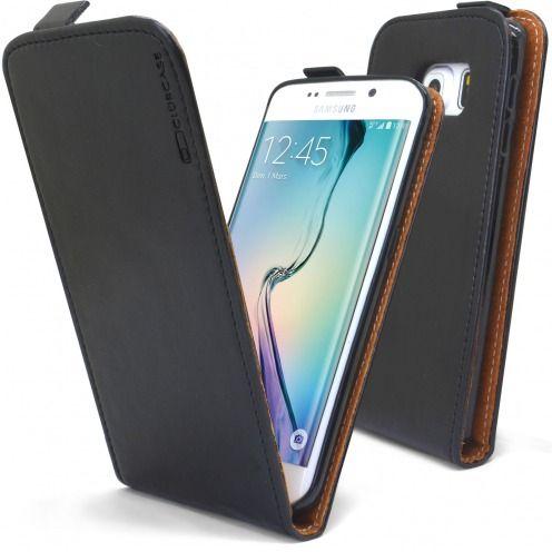 Visuel supplémentaire de Etui Italia Flip Samsung Galaxy S6 Edge Cuir Véritable Bovin Noir