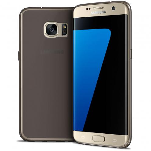 Coque Samsung Galaxy S7 Edge Frozen Ice Extra Fine Gel Noir Fumé