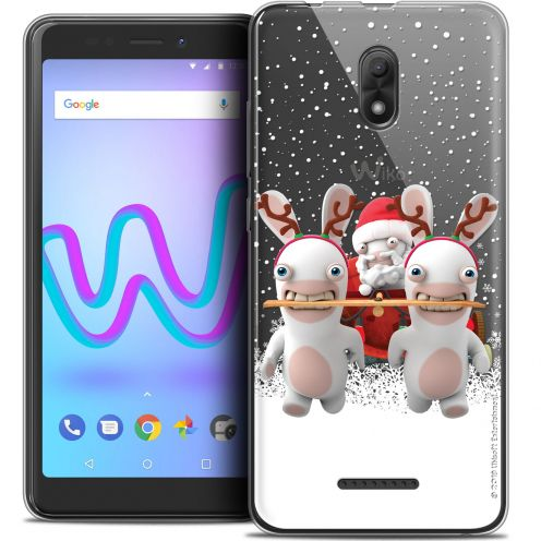 "Coque Gel Wiko Jerry 3 (5.45"") Extra Fine Lapins Crétins™ - Lapin Traineau"