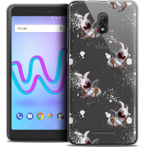 "Coque Gel Wiko Jerry 3 (5.45"") Extra Fine Lapins Crétins™ - Cupidon Pattern"