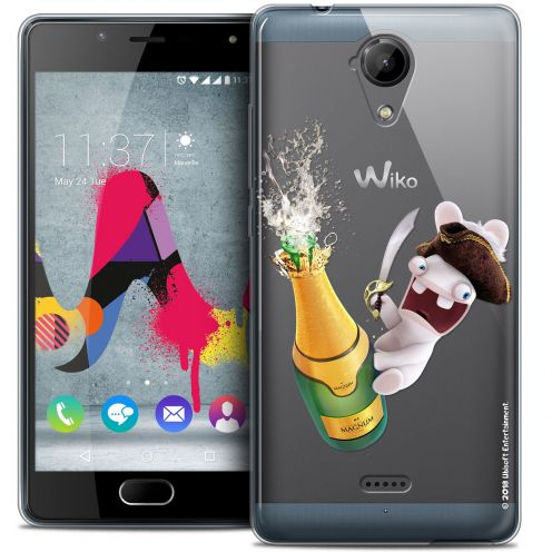 Coque Gel Wiko U Feel LITE Extra Fine Lapins Crétins™ - Champagne !