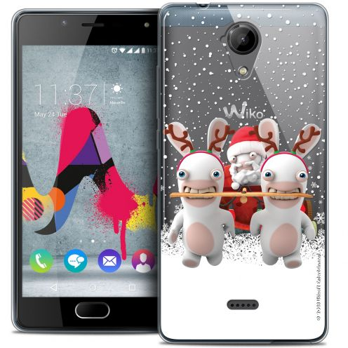 Coque Gel Wiko U Feel LITE Extra Fine Lapins Crétins™ - Lapin Traineau