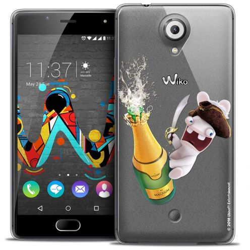 Coque Gel Wiko U Feel Extra Fine Lapins Crétins™ - Champagne !