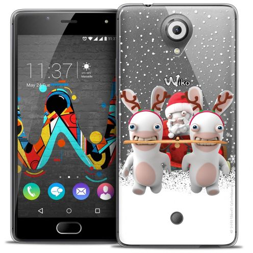 Coque Gel Wiko U Feel Extra Fine Lapins Crétins™ - Lapin Traineau