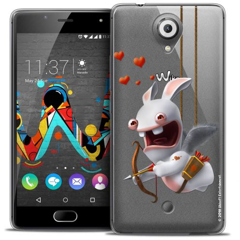 Coque Gel Wiko U Feel Extra Fine Lapins Crétins™ - Flying Cupidon