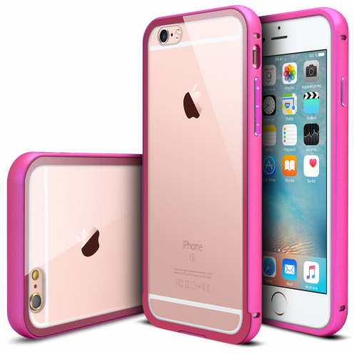 Bumper Apple iPhone 6s/6 Glass Aluminium Rose