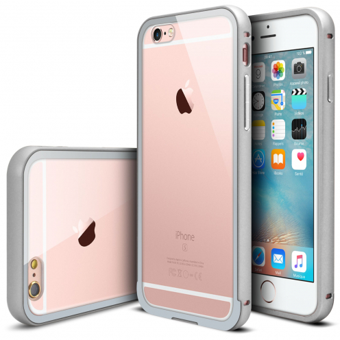 Bumper Apple iPhone 6s/6 Glass Aluminium Argent