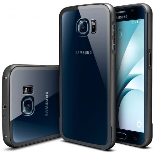 Bumper Samsung Galaxy S6 Glass Aluminium Noir
