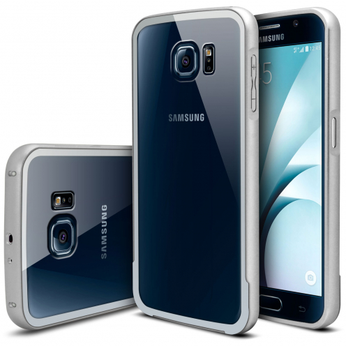 Bumper Samsung Galaxy S6 Glass Aluminium Argent