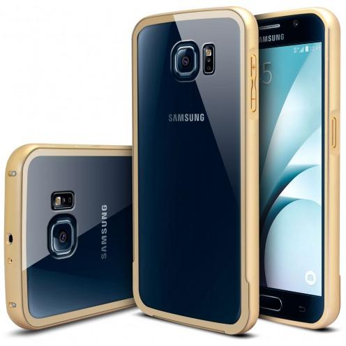 Bumper Samsung Galaxy S6 Glass Aluminium Champagne