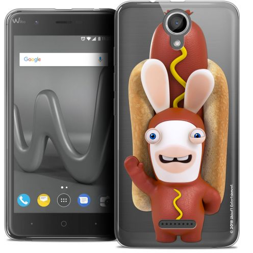 "Coque Gel Wiko Harry (5"") Extra Fine Lapins Crétins™ - Hot Dog Crétin"