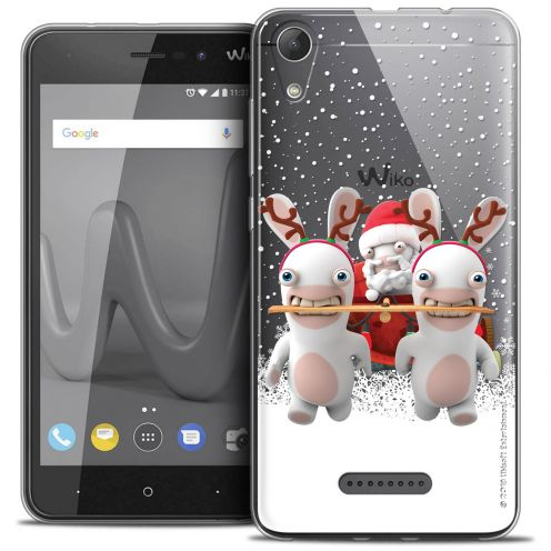 """Coque Gel Wiko Lenny 4 (5"""") Extra Fine Lapins Crétins™ - Lapin Traineau"""