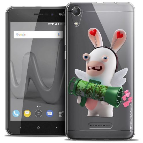 """Coque Gel Wiko Lenny 4 (5"""") Extra Fine Lapins Crétins™ - Cupidon Soldat"""