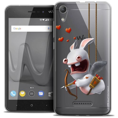 """Coque Gel Wiko Lenny 4 (5"""") Extra Fine Lapins Crétins™ - Flying Cupidon"""