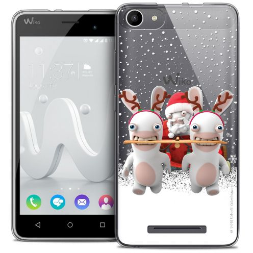 Coque Gel Wiko Jerry Extra Fine Lapins Crétins™ - Lapin Traineau