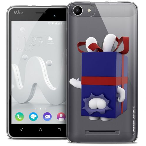Coque Gel Wiko Jerry Extra Fine Lapins Crétins™ - Lapin Surprise Bleu