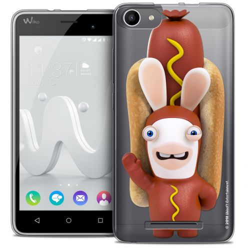 Coque Gel Wiko Jerry Extra Fine Lapins Crétins™ - Hot Dog Crétin