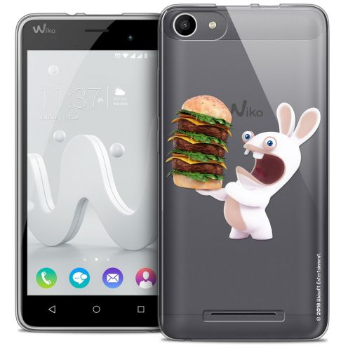 Coque Gel Wiko Jerry Extra Fine Lapins Crétins™ - Burger Crétin
