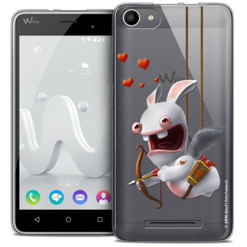 Coque Gel Wiko Jerry Extra Fine Lapins Crétins™ - Flying Cupidon