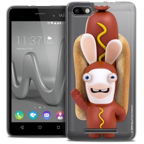 Coque Gel Wiko Lenny 3 Extra Fine Lapins Crétins™ - Hot Dog Crétin