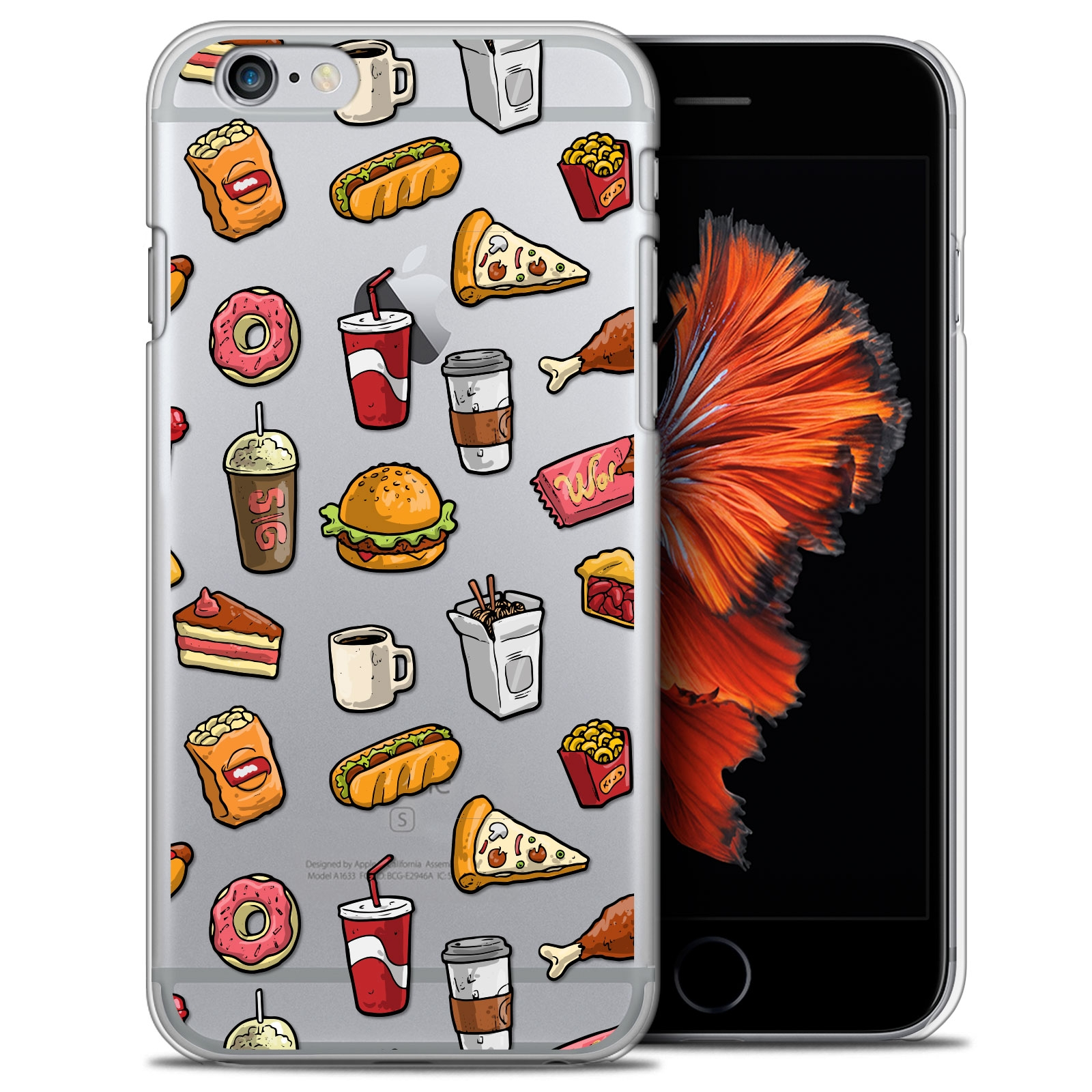 Coque Crystal iPhone 6/6s Extra Fine Design Made in France - Fast Food