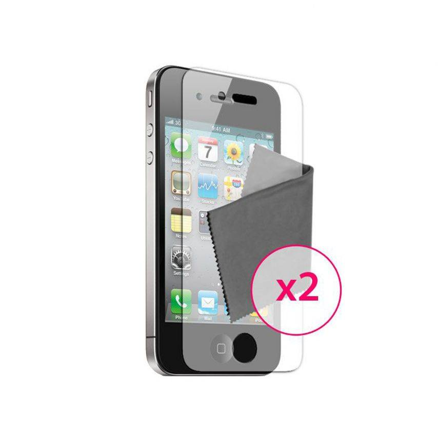 Zoom sur Films de protection Anti-Reflet iPhone 4 / 4S Clubcase ® Lot de 2
