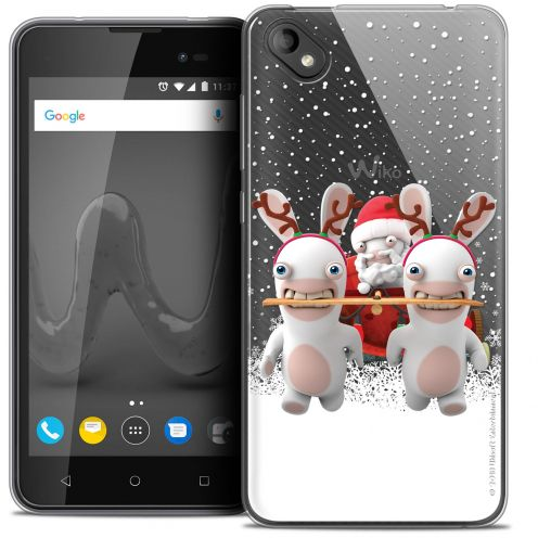 """Coque Gel Wiko Sunny 2 PLUS (5"""") Extra Fine Lapins Crétins™ - Lapin Traineau"""