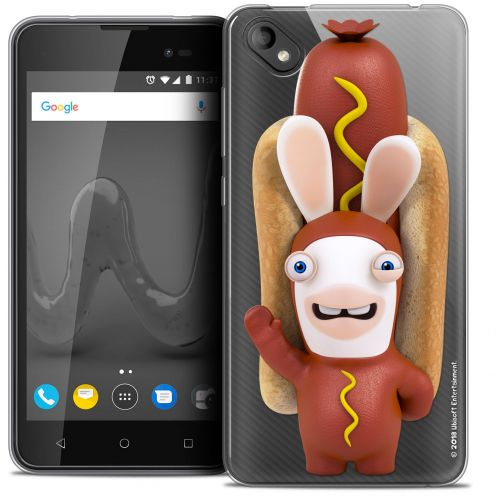 """Coque Gel Wiko Sunny 2 PLUS (5"""") Extra Fine Lapins Crétins™ - Hot Dog Crétin"""