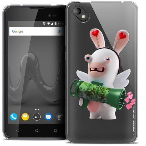 """Coque Gel Wiko Sunny 2 PLUS (5"""") Extra Fine Lapins Crétins™ - Cupidon Soldat"""