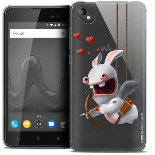 """Coque Gel Wiko Sunny 2 PLUS (5"""") Extra Fine Lapins Crétins™ - Flying Cupidon"""