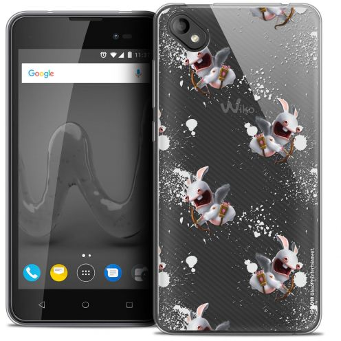 """Coque Gel Wiko Sunny 2 PLUS (5"""") Extra Fine Lapins Crétins™ - Cupidon Pattern"""