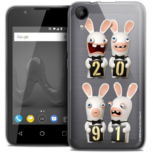 """Coque Wiko Sunny 2 Gel (4"""") Extra Fine Lapins Crétins™ - New Year"""
