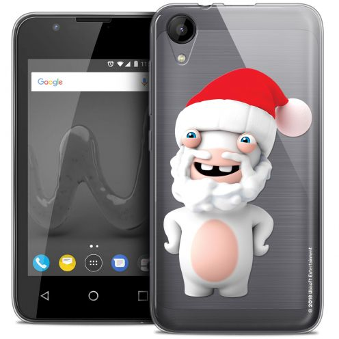 """Coque Wiko Sunny 2 Gel (4"""") Extra Fine Lapins Crétins™ - Lapin Noël"""