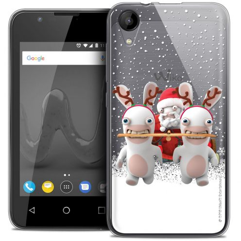 """Coque Wiko Sunny 2 Gel (4"""") Extra Fine Lapins Crétins™ - Lapin Traineau"""