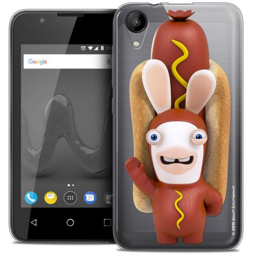 """Coque Wiko Sunny 2 Gel (4"""") Extra Fine Lapins Crétins™ - Hot Dog Crétin"""