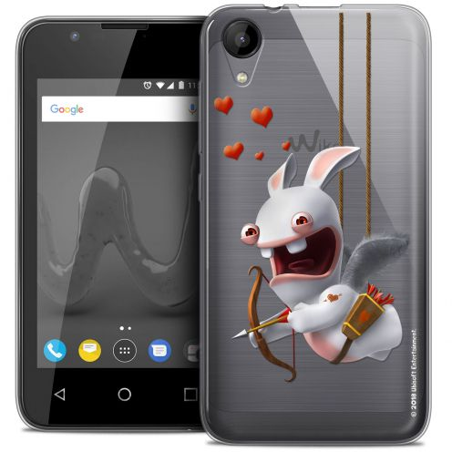 """Coque Wiko Sunny 2 Gel (4"""") Extra Fine Lapins Crétins™ - Flying Cupidon"""