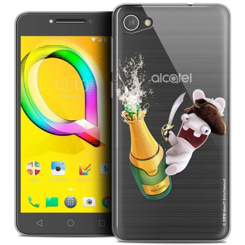 "Coque Gel Alcatel A5 LED (5.2"") Extra Fine Lapins Crétins™ - Champagne !"