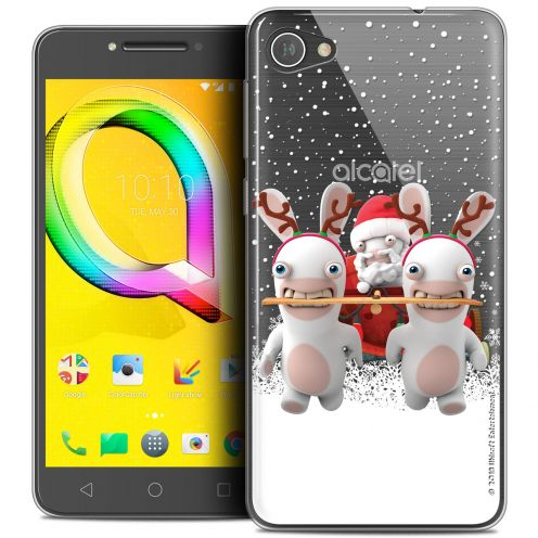 "Coque Gel Alcatel A5 LED (5.2"") Extra Fine Lapins Crétins™ - Lapin Traineau"