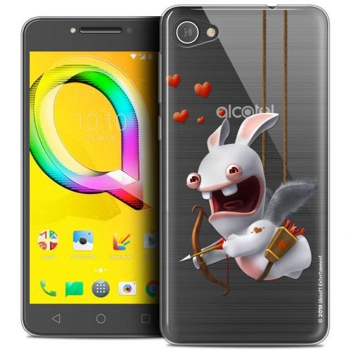 "Coque Gel Alcatel A5 LED (5.2"") Extra Fine Lapins Crétins™ - Flying Cupidon"