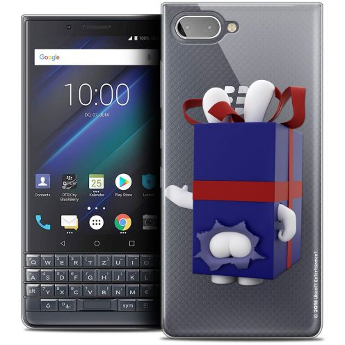 "Coque Gel BlackBerry Key2 LE (4.5"") Extra Fine Lapins Crétins™ - Lapin Surprise Bleu"